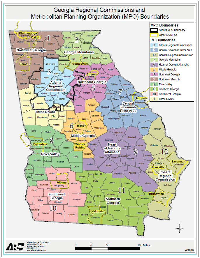 Georgia Regional Commissions Map